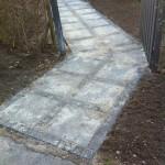Herregårdsbelægning med betonchausser